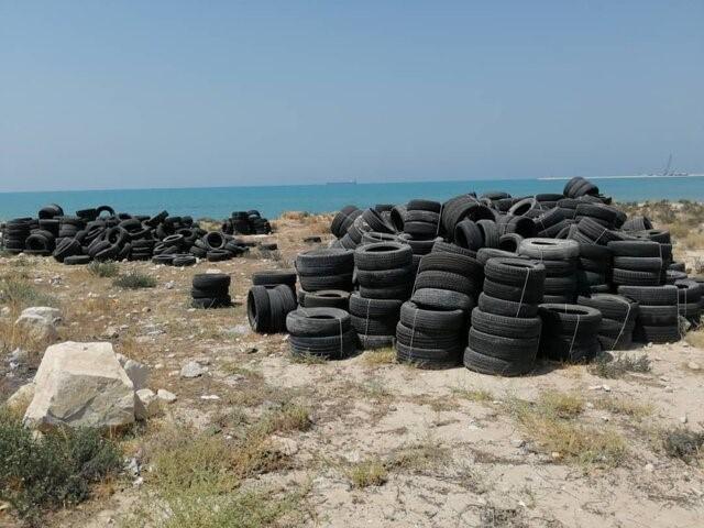 تخلیه لاستیک در دریا غیرقانونی اعلام شد /خطر ایجاد آلودگی دریایی