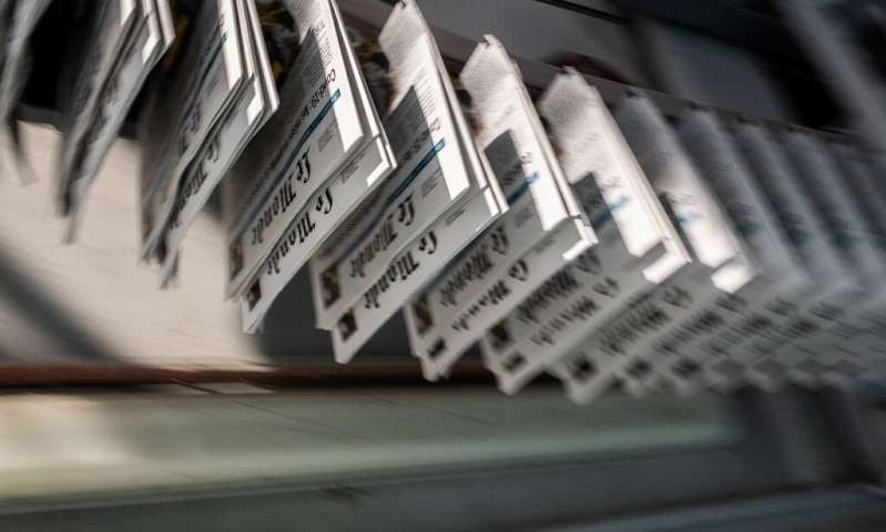 Jobs all along the newspaper production chain are at risk, from printers and paper makers to journalists