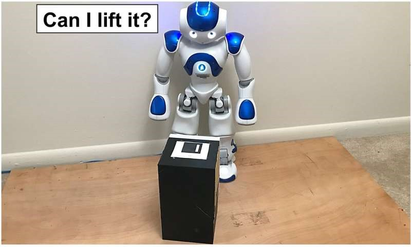 A technique allows robots to determine whether they are able to lift a heavy box