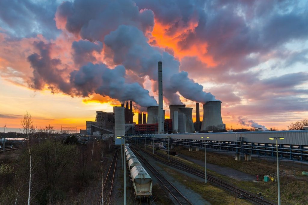 A lignite power plant in Germany